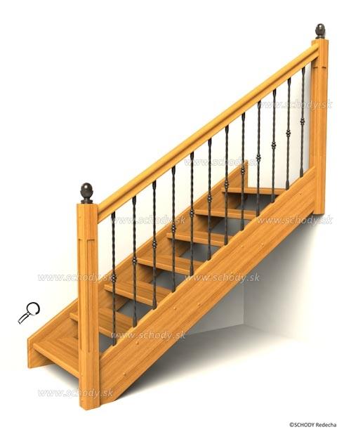 drevene schody IA13