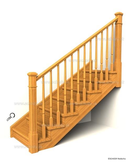 drevene schodiste schody IIA12