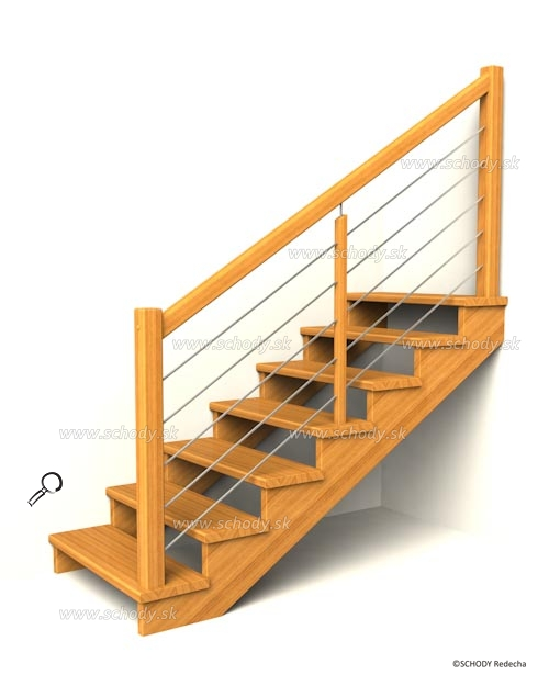 drevene schodiste schody IIA4