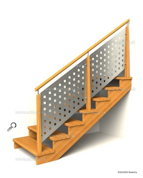 drevene schodiste schody IIC7