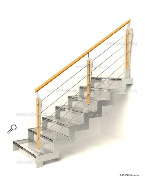 sklo schody VIIP